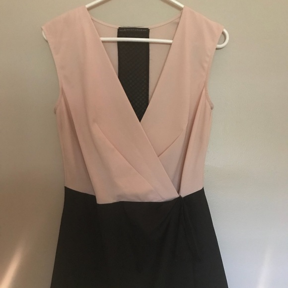 Signature8 Pants - Blush and black Color block deep V Romper